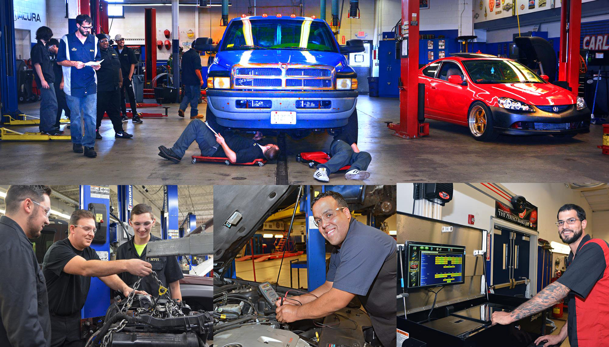 Glen, Arturo and Rich Are Highly Experienced Automotive Technicians & Instructors At MTTI In Seekonk, MA.