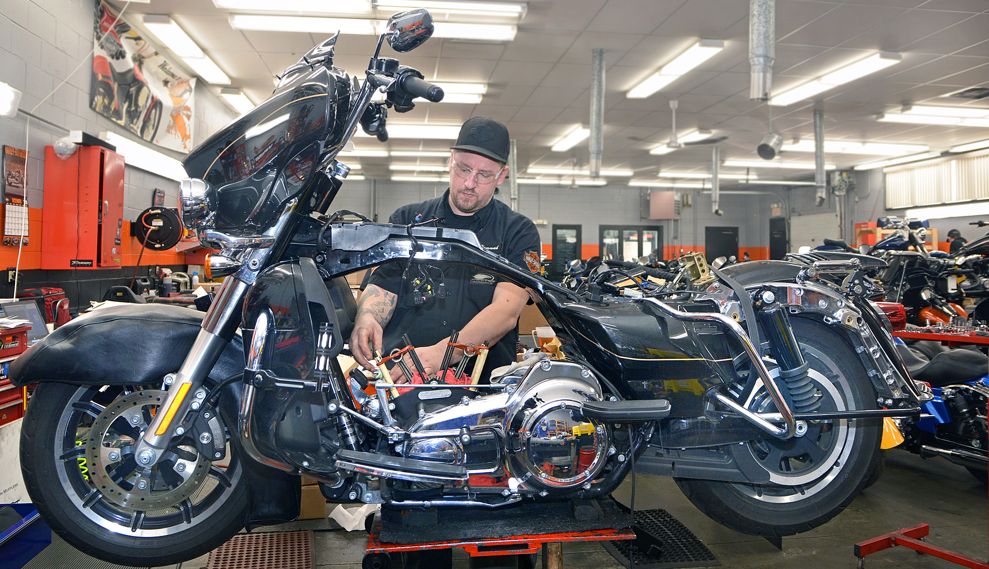 2010 MTTI Motorcycle / Power Equipment Technician, 'Hammah' Christopher Vallee, Sr., is a Harley-Davidson Master Technician.