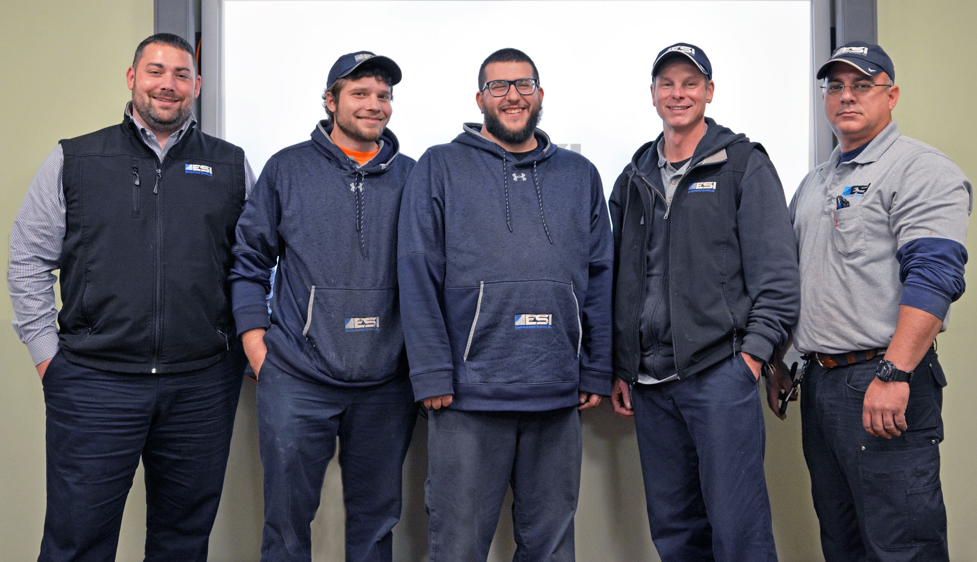 Miichael Muratori, Service Manager at ESI in Attleboro, MA is with 4 MTTI HVAC Graduates.