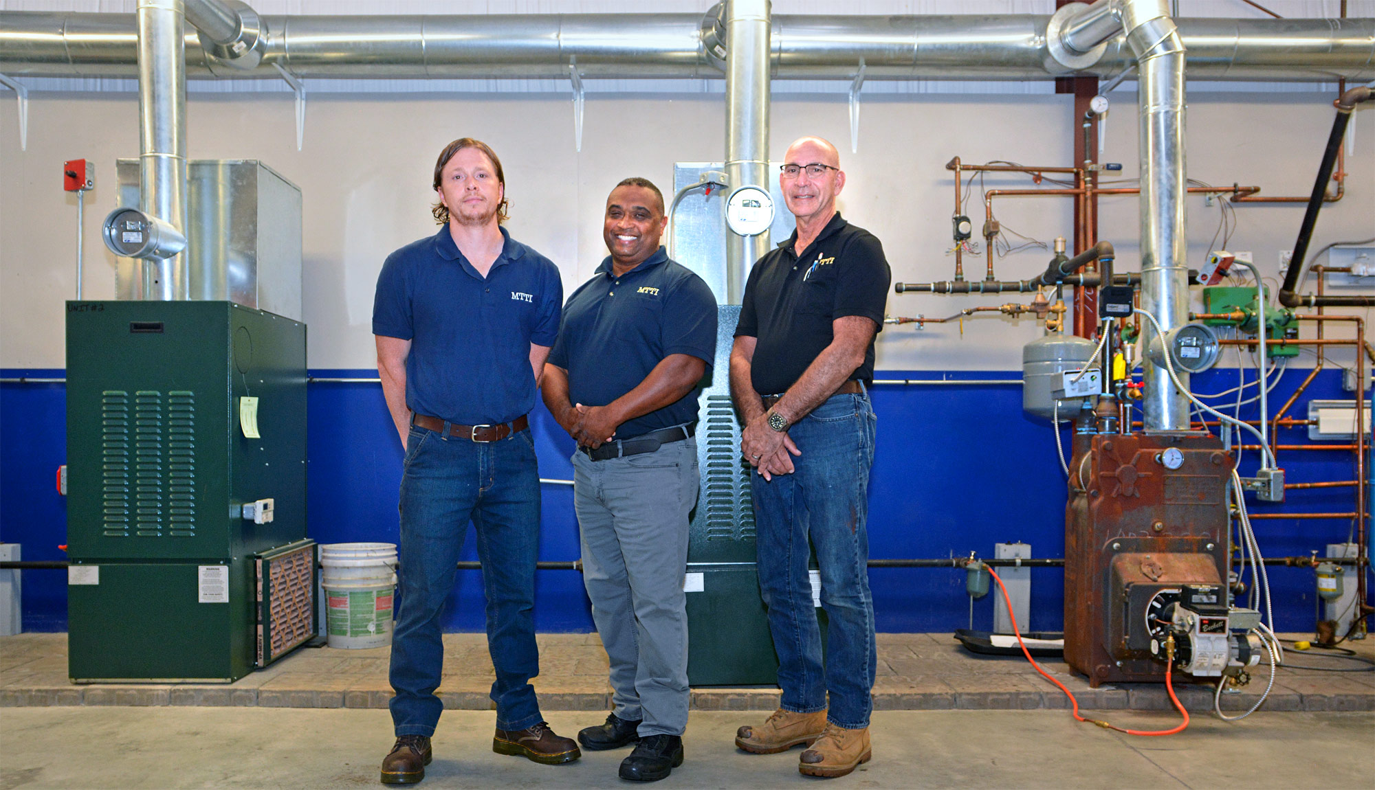 Asher Marshall, John Barbosa & Michael Siravo Are MTTI HVAC/R Instructors In Seekonk, MA.