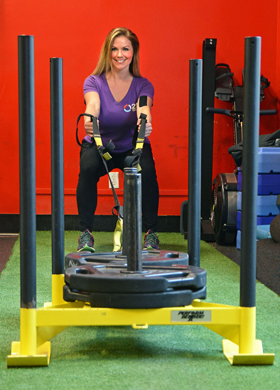 MTTI Firness Trainer Graduate, Kiki Maples, on exercise apparatus,