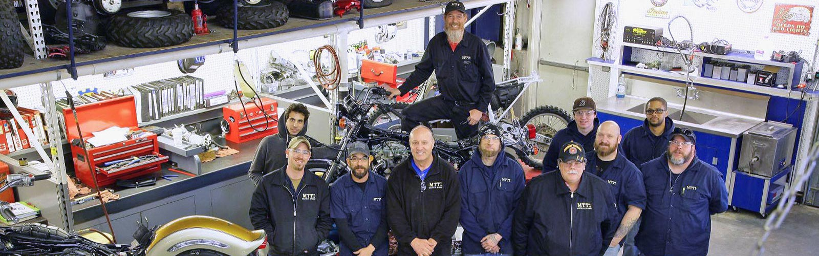 MTTI Instructor and motorcycle students.