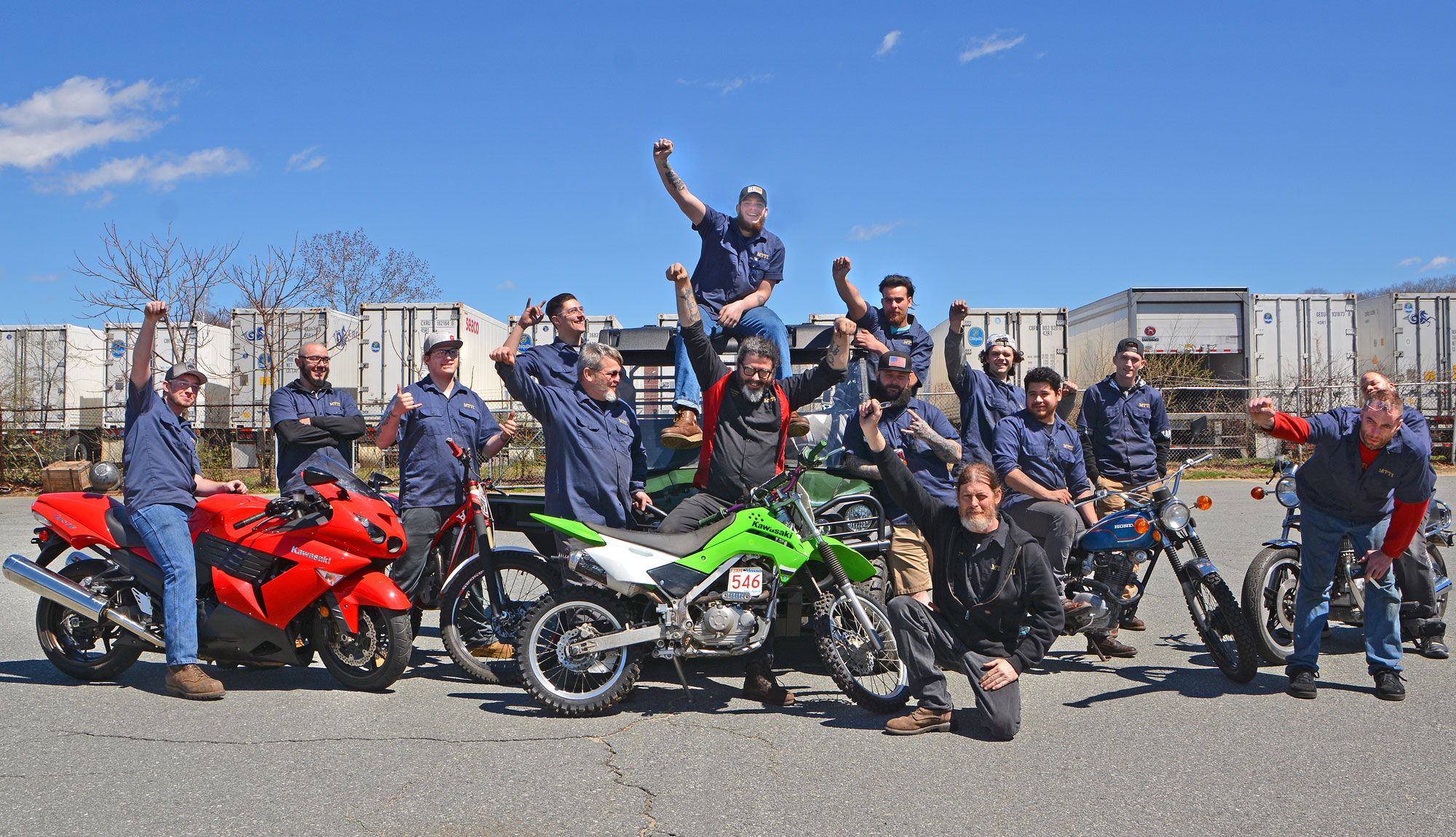 Gary & Bill With 2019 Motorcycle / Power Equipment Technician Students