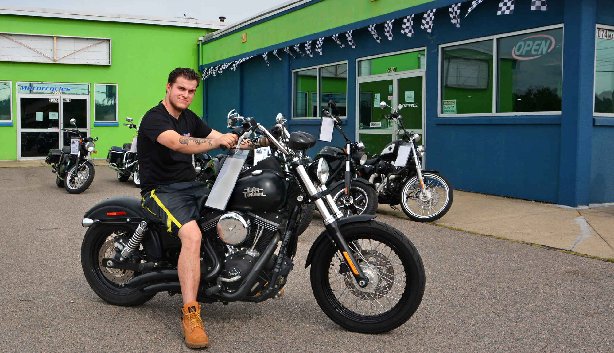 2019 MTTI Graduate, Robbie Thorp At Brockton Cycles, Where He Works As A Motorcycle Technician.