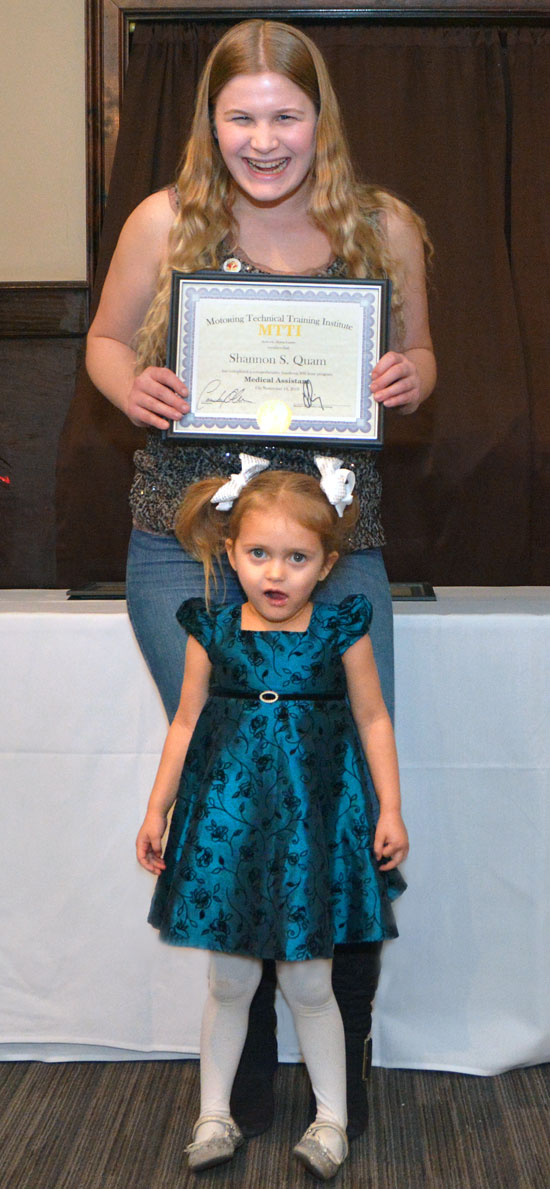 Shannon Quam And Daughter At Medical Assistant Graduation