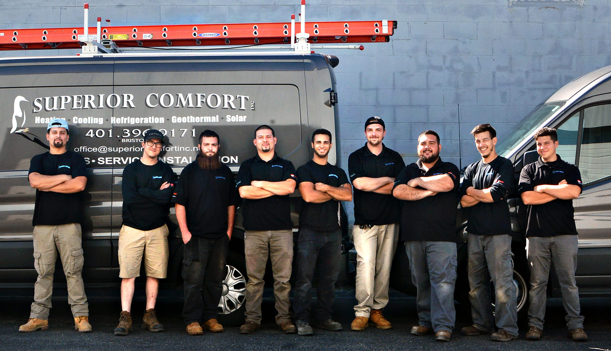 8 MTTI HVAC/R Technician Graduates Are Apprentices At Superior Comfort in Bristol, RI.