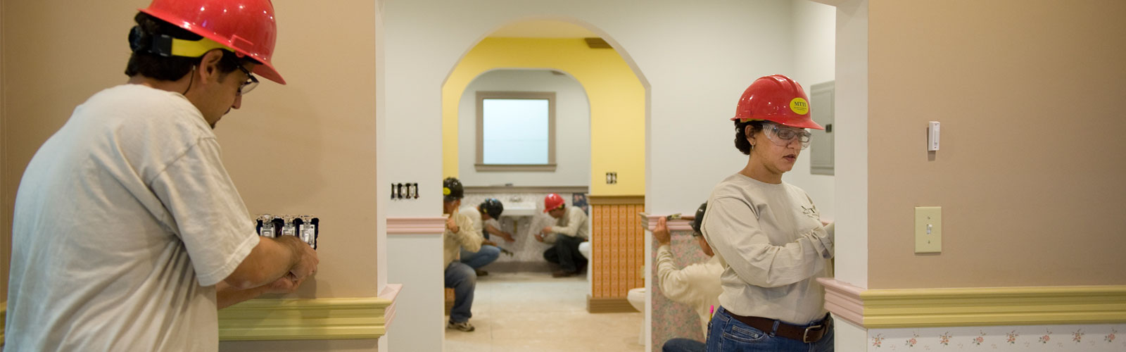 Interior view of a home moduleconstructed by MTTI Building Trades students