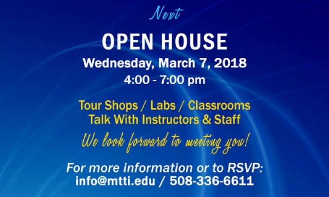 Open House at MTTI on March 7, 2018