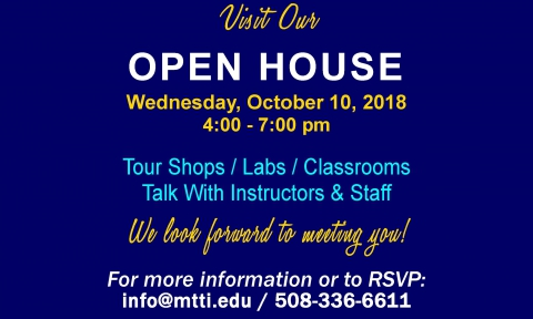 October 10, 2018 Open House at MTTI