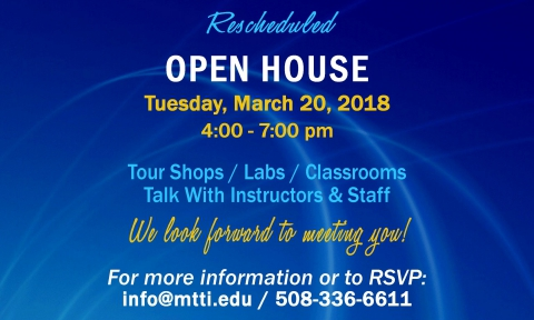 Open House at MTTI on March 20, 2018