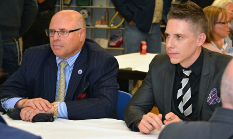 Clinton Dick, Executive Director of the Office of Private Occupational School Education and Representative Steven Howitt